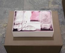 Suitcase II. Fotogravure foldet som rumlig konstruktion.